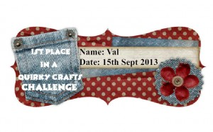 Quirky Crafts Challenge #18 First Place Wnner