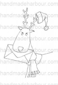 HH Reindeeer with Santa Hat