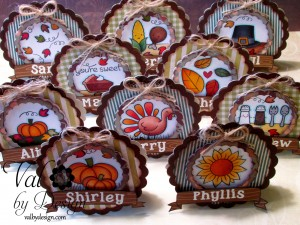 Thanksgiving Table Place Cards with Lawn Fawn
