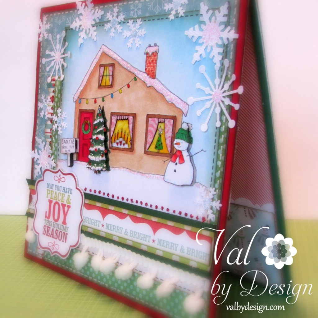 Christmas House digi stamp from Handmade Harbour - Val By Design