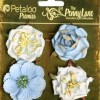 Petaloo Ruffled Roses State Blue Penny Lane Collection