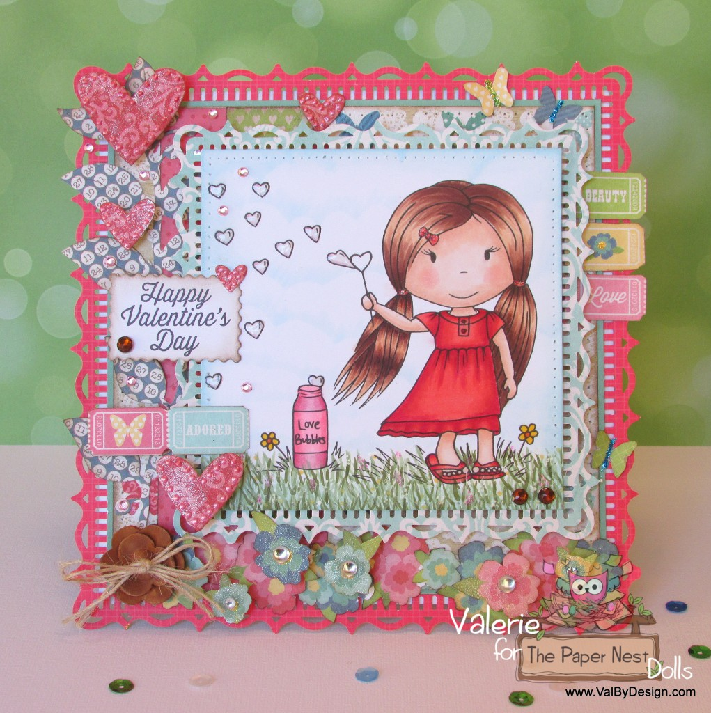 Happy Valentine's Day with Paper Nest Dolls' Love Bubbles ...