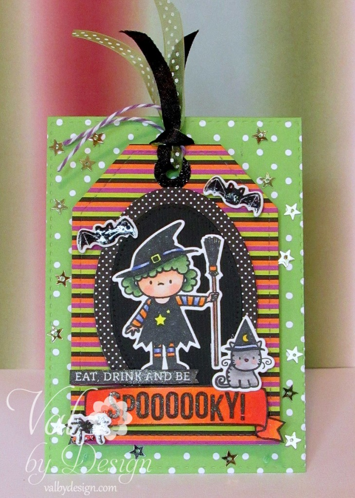Halloween cards - Mama Elephant, Lawn Fawn, Pretty Pink Posh