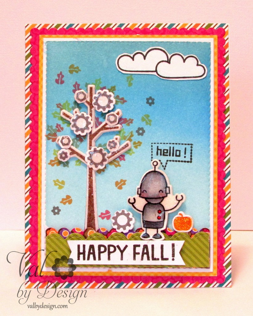 A Card for Fall with Lawn Fawn, Doodlebug, & Mama Elephant