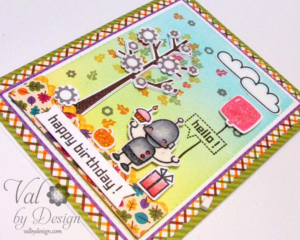 Birthday Card with Lawn Fawn, Doodlebug, & Mama Elephant