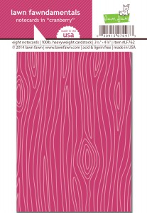 Lawn Fawn Notecards - Cranberry