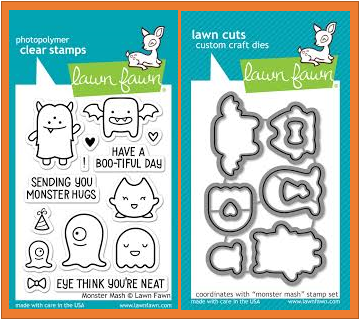 Lawn Fawn Monster Mash Stamp Set and matching Die Set
