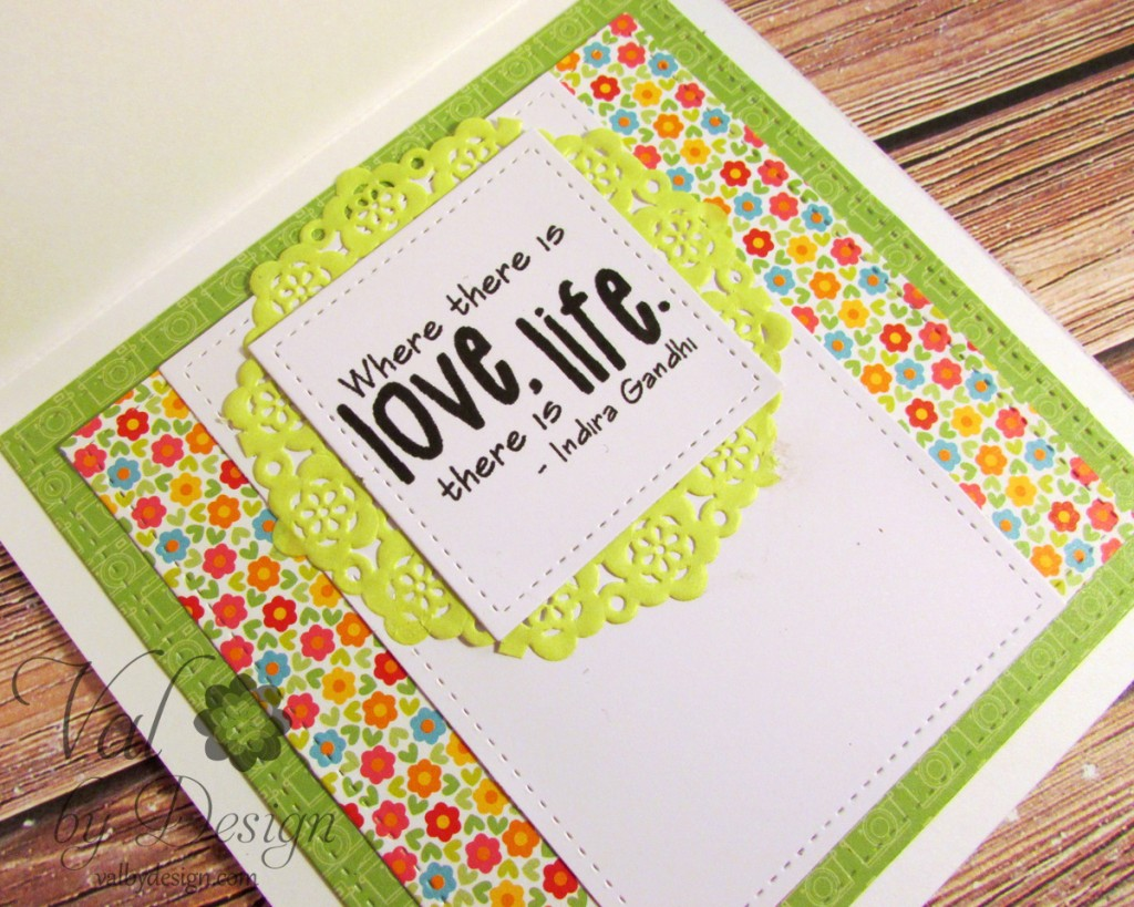 Tiddly Inks stamp, Doodlebug papers and doilies, Lawn Fawn dies {ValByDesign, 2015}