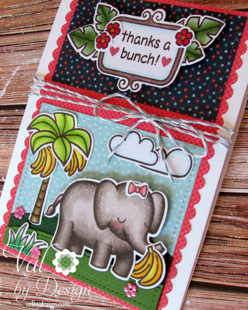 Lawn Fawn stamps & dies & ink & twine, Pretty Pink Posh sequins, Copic markers {ValByDesign, 2015}