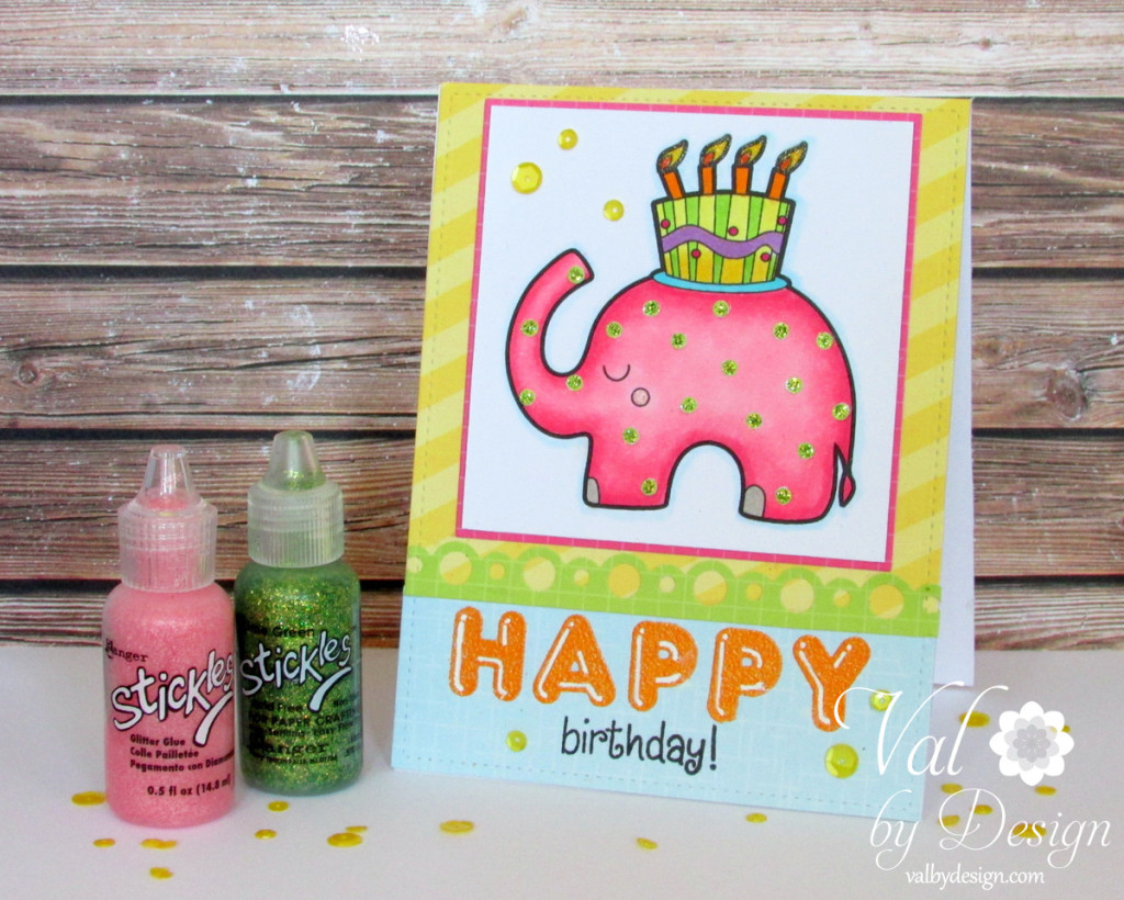Jessica Weible digi image, Mama Elephant & Lawn Fawn acrylic stamps,  Avery Elle papers,  Lawn Fawn dies, Pretty Pink Posh sequins, Fiskars border punch, Copic markers {ValByDesign, 2015}