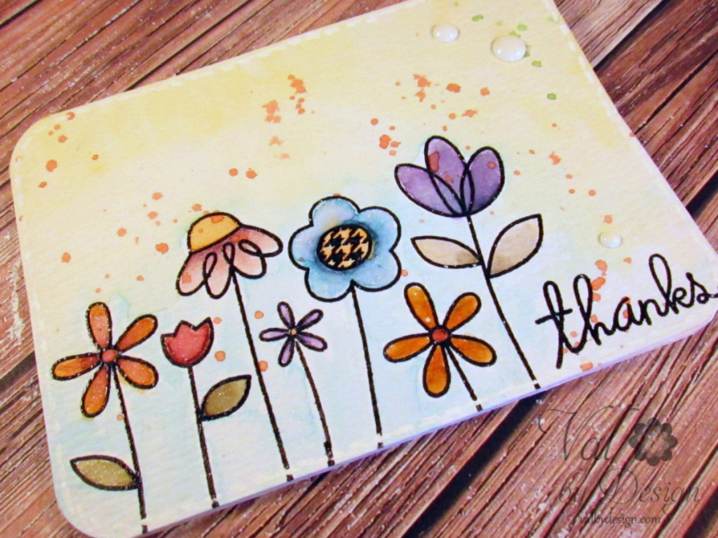 Paper Smooches stamps, Distress Ink {ValByDesign, 2015}