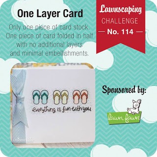 Lawnscaping Challenge #114 - One Layer Card