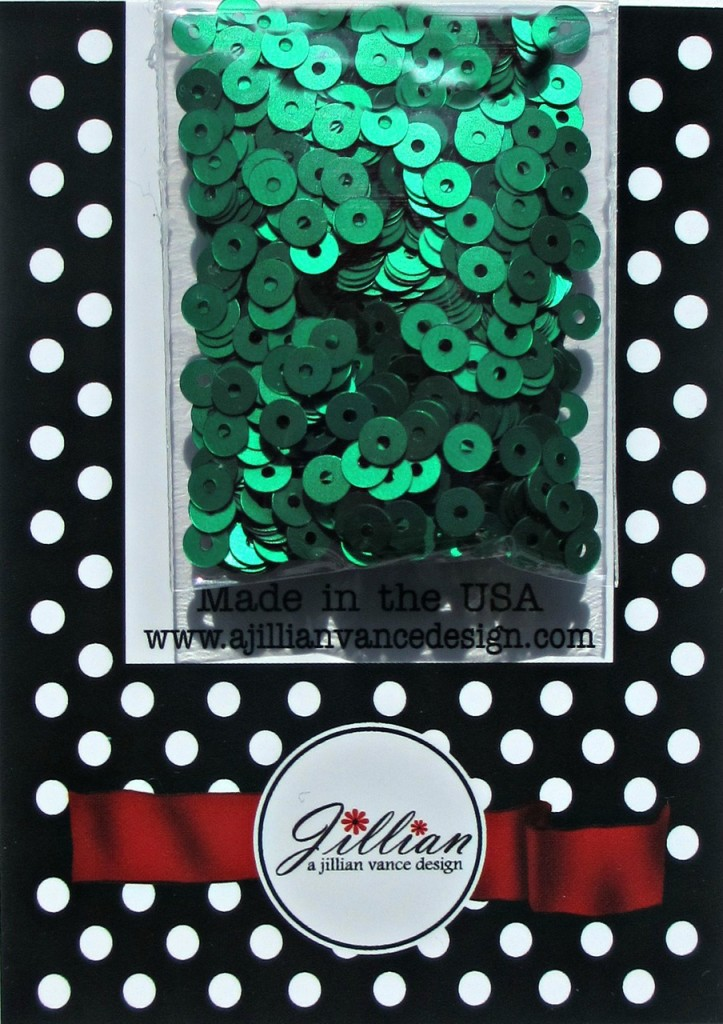 Kelly Green Satin 4mm Sequins