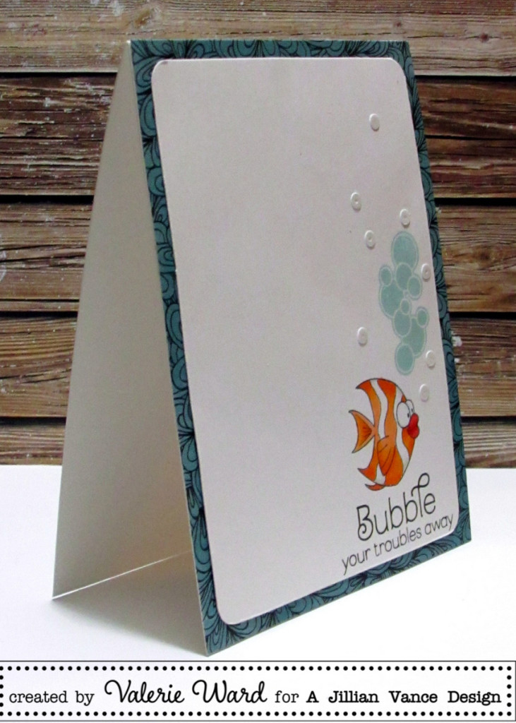 A Jillian Vance Design stamps and sequins, BoBunny paper, Copics {ValByDesign, 2015}