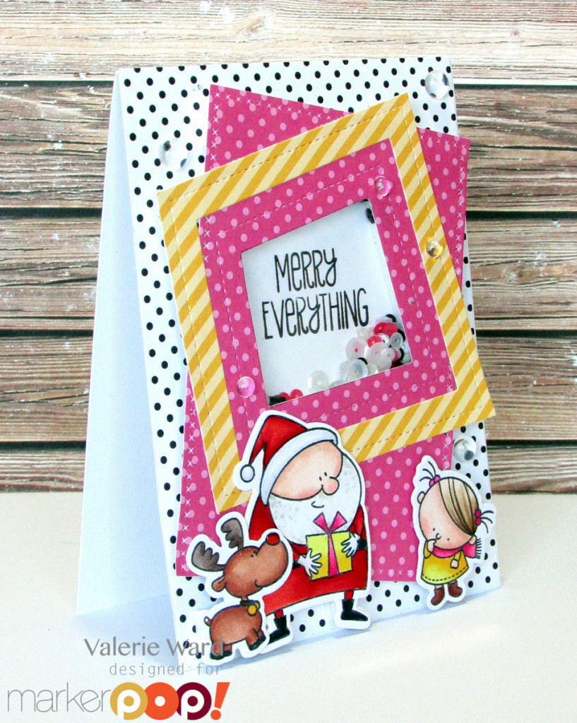 My Favorite Things stamps & dies & papers, Pretty Pink Posh sequins, Copics {ValByDesign, 2015}