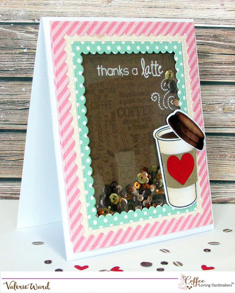 Your Next Stamp stamps & dies, Stampendous stamp, Lawn Fawn paper, Pretty Pink Posh dies & sequins, Copics {ValByDesign, 2015}
