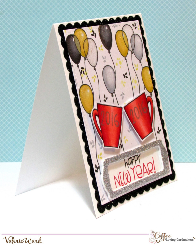 Paper Smooches stamps & dies, Lawn Fawn dies & ink, Copics {ValByDesign, 2015}