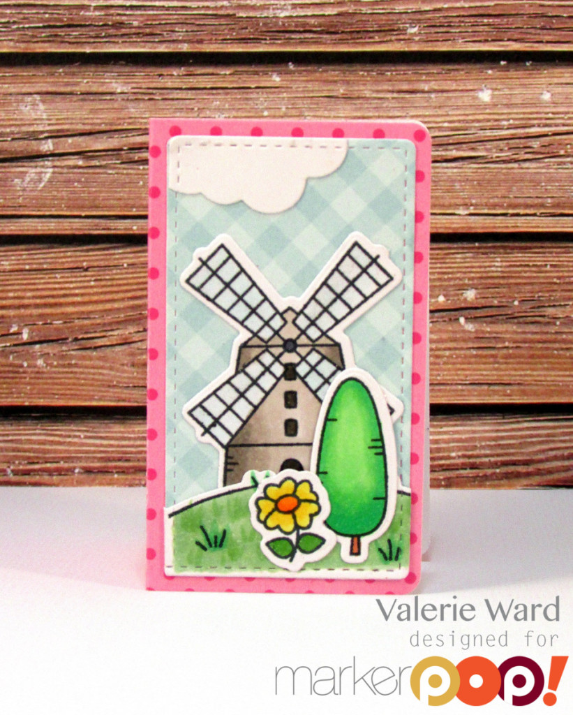 MFT stamps & dies & paper, Copics {ValByDesign, 2015}