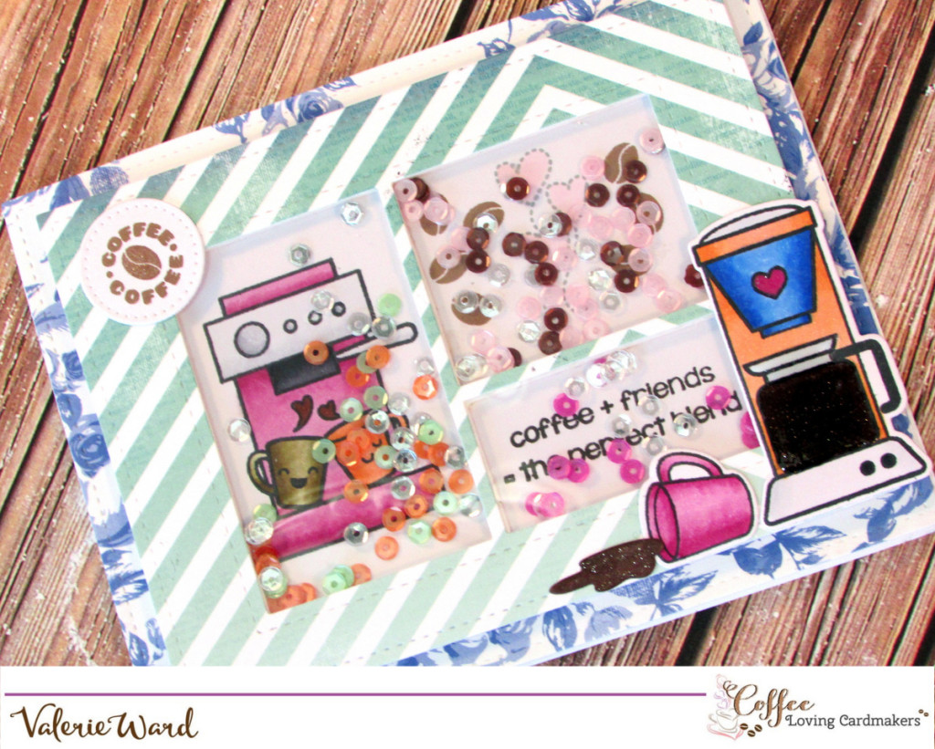 Your Next Stamp stamps & deis, Heidi Swapp papers, Lawn Fawn dies, Pretty Pink Posh die & sequins, Copics {ValByDesign, 2016}